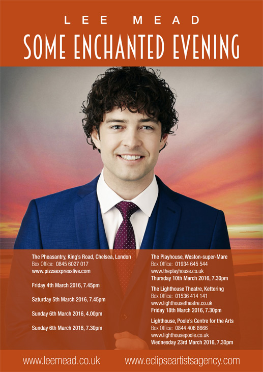 Lee Mead - Some Enchanted Evening Poster