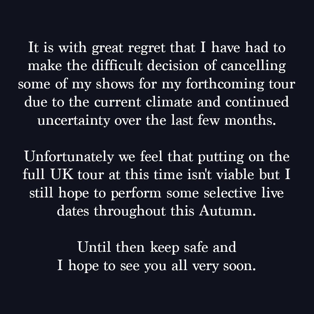 UK Tour 2021 Update